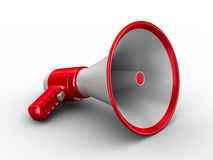 Megaphone on white background Stock Image