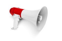 Megaphone. On white background -Clipping Path Royalty Free Stock Images