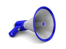 Megaphone on white background. Isolated 3D Stock Photos