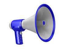 Megaphone on white background. Isolated 3D Stock Image