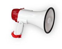 Megaphone on white. Megaphone Electronics on white Isolated Royalty Free Stock Image