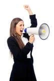 Megaphone woman Royalty Free Stock Photo