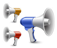 Megaphones. Loudspeaker collection Stock Image