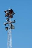 Megaphones on a pole Stock Image