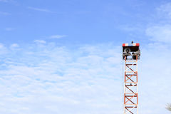 Megaphones on a pole Stock Photography