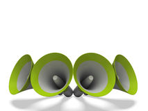 Megaphones Shows Announcements Broadcasting Announce Or Loudspeakers. Megaphones Showing Announcements Broadcasting Announce Or Loudspeakers royalty free illustration