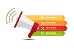 Megaphonfahne infographic Lizenzfreie Stockfotografie