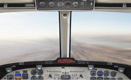69 megapixel high detail 3d illustration of airplane cockpit,  flying fast above a city,  backdrop scene, concept, template