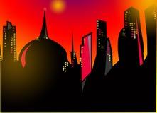Megapolis ночи Стоковые Изображения RF