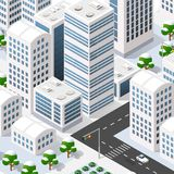Megapolis 3d isometric Obrazy Stock