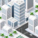 Megapolis 3d isometric Stock Images