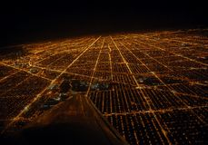 Megapolis form above. View of Chicago from the plane Stock Photo