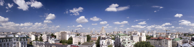 Megapolis life. Series of panoramic views of Moscow city Stock Photo