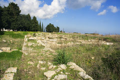 Megara Hyblea - le pareti Fotografia Stock