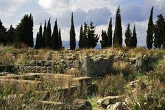 Megara Hyblea - Ruinen Stockfotos