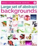 Megareeks abstracte achtergronden Royalty-vrije Stock Afbeelding