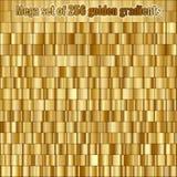 Megareeks die uit inzameling bestaan 256 gouden gradiënten Eps 10 royalty-vrije illustratie