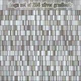 Megareeks die uit inzameling bestaan 256 zilveren gradiënten Metaal textuur Glanzende achtergrond Eps 10 royalty-vrije illustratie