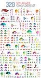 Megareeks van 320 gelijkaardig Web universeel pictogram en Stock Fotografie
