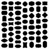 Megareeks van leeg kader en etiket vector illustratie