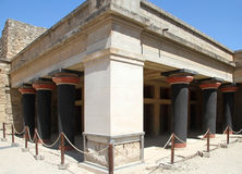 Megaron of the tsar or halls of double pole-axes. In the Knossos palace in Crete Royalty Free Stock Photo