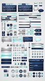 Megaset of web GUI elements Royalty Free Stock Photos
