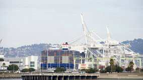 Megaship BENJAMIN FRANKLIN loading at the Port of Oakland Royalty Free Stock Photo
