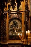 Megaspileo of Klooster van het Grote Hol stock afbeelding