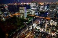 Megastad van de de Nacht de Donkere Horizon van Tokyo Cityview met Skytree-Toren Royalty-vrije Stock Afbeeldingen
