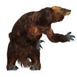 Megatherium Sloth on White Stock Image