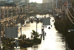 Megavloed in Bangkok. Stock Afbeeldingen