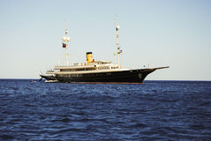 撒丁岛。Megayacht 免版税库存图片
