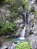 Megeve : Cascade d'Au Bois de belle de La Images stock