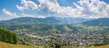 Megeve lato panoramiczny fotografia stock
