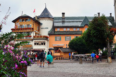 Megeve town, France Stock Images