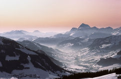 Megeve valley royalty free stock image