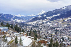 Megeve valley royalty free stock photography