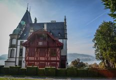 Meggenhorn Castle in Lucerne, Switzerland stock image