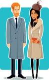 Meghan Markle и принц Гарри Вектор Иллюстрация