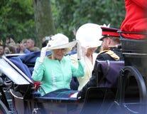 Meghan Markle London UK 8 Juni 2019 - Meghan Markle Kate Middleton materielfoto royaltyfri bild