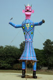 Meghnath effigy in a ground. Meghnath effigy for dussehra festival in India Stock Photo