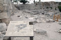 Megiddo city gate Stock Photo