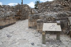 Megiddo city gate Stock Images