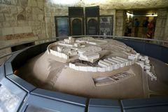 Megiddo museum Stock Photography