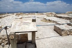 Megiddo ruins Stock Photo