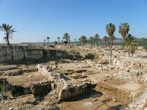 Megiddo - Solomonic运输车城市i.,以色列 免版税库存照片