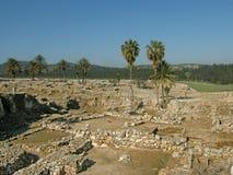 Megiddo - Solomonic运输车城市II.,以色列 免版税库存图片