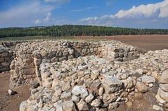 Megiddoruïnes - Israël stock fotografie