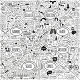 Megie doodle ikony ustawiać Obraz Stock