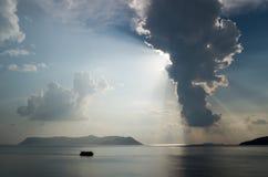 Megisti和云彩形成 免版税图库摄影